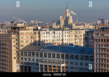 House on the Embankment, cityscape, Moscow, Russia - Stock Image