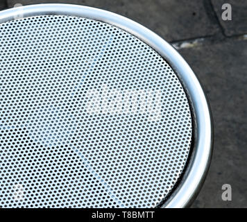 Stainless steel mesh surface - Stock Image