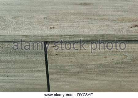 Wooden furniture close up with drawer. - Stock Image