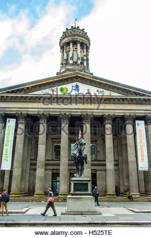 The Neoclassical Gallery Of Modern Art in Glasgow in Royal Exchange Square, Glasgow, Scotland, UK, Also known as - Stock Image