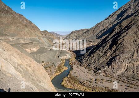 Argentina, San Juan province, San Jose de Jachal, Quebrada de Jachal, Ruta 40 - Stock Image