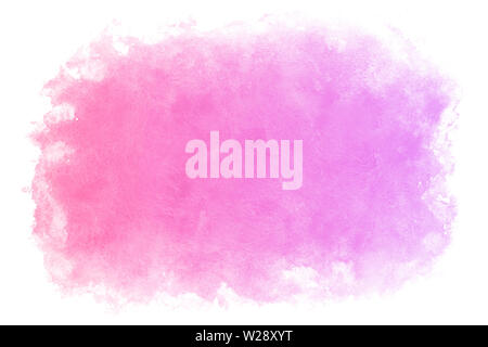 Gradient color spring purple water abstract or natural watercolor paint background - Stock Image