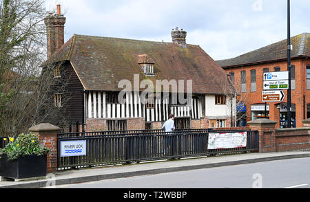 Uckfield East Sussex England UK - Timber house at entrance to  the Bell Walk precinct - Stock Image