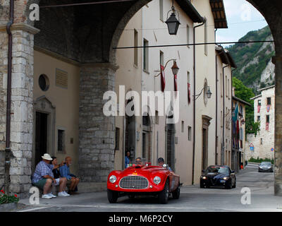 Gubbio, Italy. 19th, May 2017.  Crew composed by Robert Van Zyand and Patricia Margherita Van Zy from South Africa - Stock Image