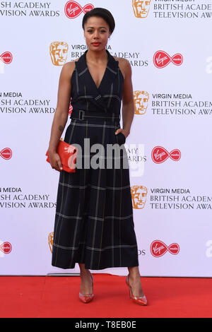 London, UK. 12th May, 2019. LONDON, UK. May 12, 2019: Nina Toussaint White arriving for the BAFTA TV Awards 2019 at the Royal Festival Hall, London. Picture: Steve Vas/Featureflash Credit: Paul Smith/Alamy Live News - Stock Image