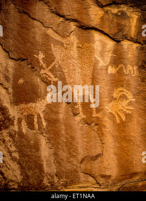 Petroglyph - Nine Mile Canyon, Utah - Stock Image