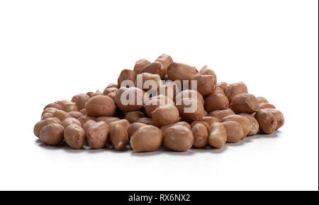 Pile Of Raw Shelled Peanuts - Stock Image