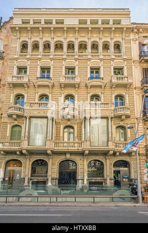 Casa Antoni Salvadó, Carrer de Casp 46, Barcelona, - Stock Image