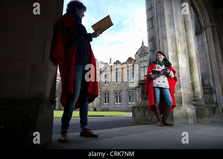 University students in traditional capes - Stock Image