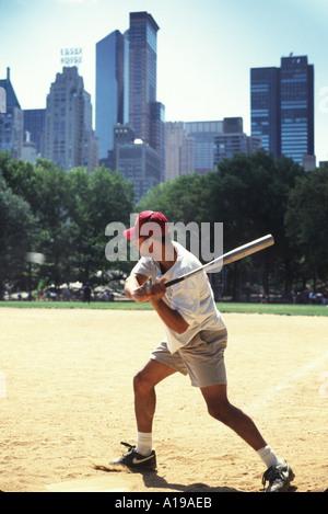 Baseball Central Park NY - Stock Image