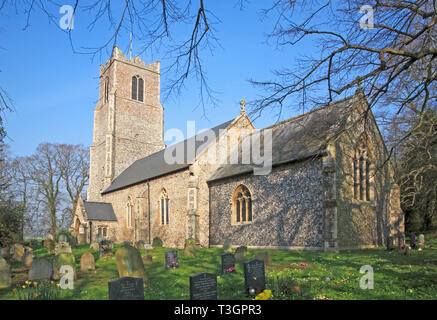 A view of the parish Church of SS Peter and Paul at Halvergate, Norfolk, England, United Kingdom, Europe. - Stock Image