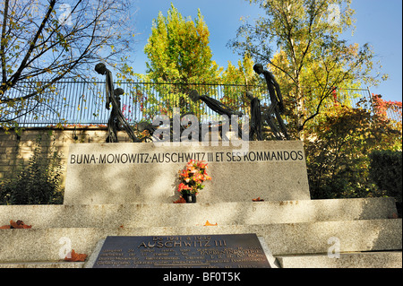 Paris, France - 'Pere Lachaise' Cemetery, Monument to Jews Deported to Auschwitz Concentration Camp Holocaust - Stock Image