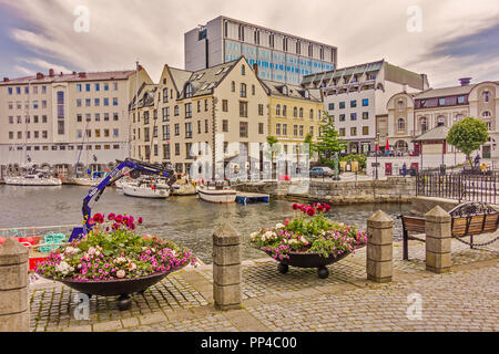 The harbour At Alesund Norway - Stock Image