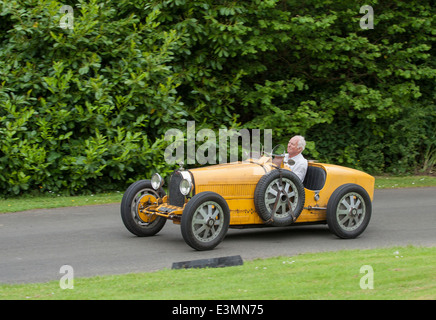 1928 Bugatti T35B on the course prior to the start. Driven by Trevor Smith. Cultra Hillclimb, Holywood, Down, Northern - Stock Image