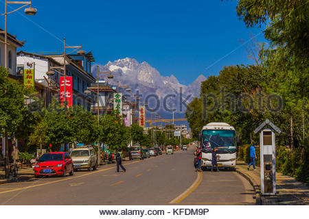 Main street Lijiang China - Stock Image
