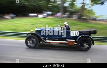 1921 Vauxhall 30-98 E Type Velox at Precott Hill climb with the Vinatage Sports-Car Club. - Stock Image