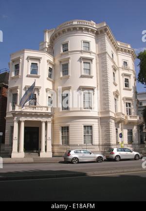 Argentinian Embassy Belgrave Square London - Stock Image