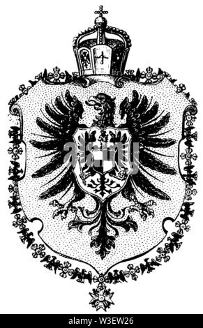 Coat of arms: German Empire, ,  (cultural history book, 1875) - Stock Image