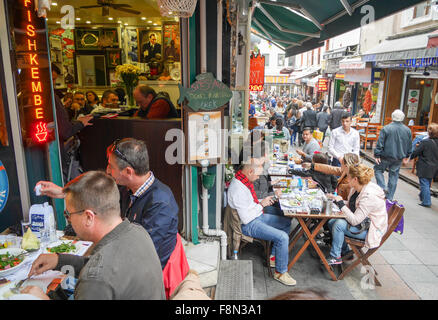 Restaurants in Kadikoy Istanbul Turkey - Stock Image