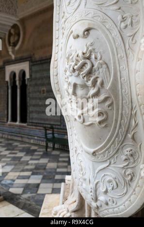 Casa de Pilatos (Pilate's House), a Mudejar style palace used by the Dukes of Medinaceli, Seville, Spain - Stock Image