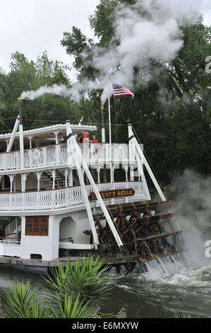 Paddle steamer, Magic Kingdom Park, Walt Disney World, Orlando, Florida - Stock Image