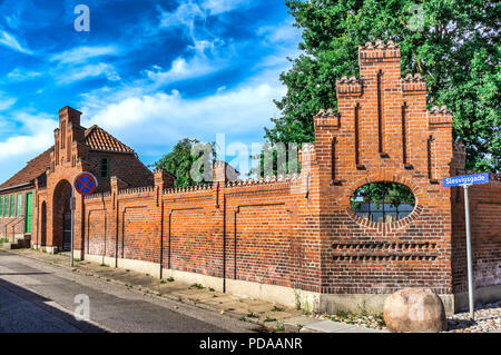 Te old Jewish cemetery in the former fortress town in the eastern part of Jutland - Fredericia, Denmark. - Stock Image