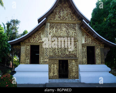 Wat Xieng Thong a Buddhist temple in Luang Prabang Laos one of the most important of Lao monasteries monument to spirit of religion royalty - Stock Image