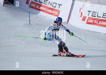 Courchevel, France. 22nd Dec 2018. Petra Vlhova of Slovakia 2nd in Courchevel France Ladies Slalom Audi FIS Alpine Ski World Cup 2019- Credit: Fabrizio Malisan/Alamy Live News Credit: Fabrizio Malisan/Alamy Live News - Stock Image