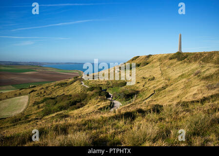 Cap Blanc Nez, Pas de Calais France Oct 2018 Cap Blanc-Nez (literally 'Cape White Nose' in English; from Dutch Blankenesse, white headland) is a cape  - Stock Image