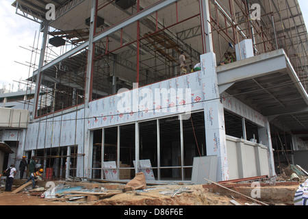 Construction of the extended wing of Murtala Muhammed International Airport, Delta wing, Lagos. - Stock Image