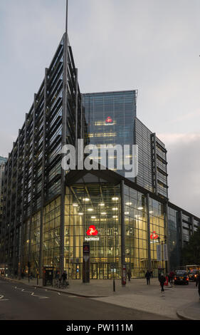 Nat West bank offices in Bishopsgate, Spitalfields, London, England, UK - Stock Image