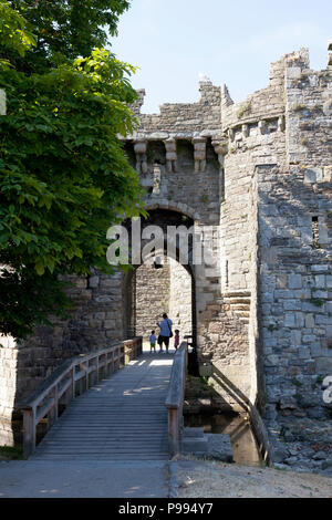 Beaumaris Castle, Anglesey, Wales - Stock Image