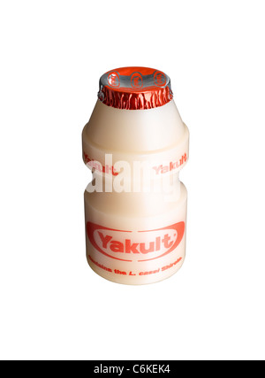 A cut out of a bottle of Yakult - Stock Image