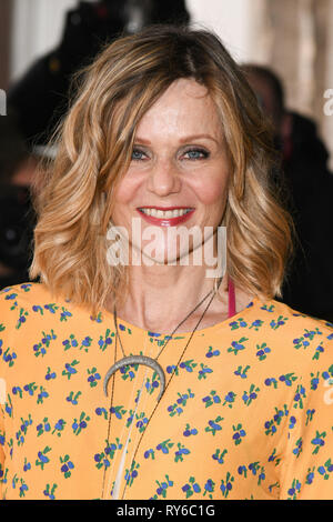 London, UK. 12th Mar, 2019. LONDON, UK. March 12, 2019: Linda Barker arriving for the TRIC Awards 2019 at the Grosvenor House Hotel, London. Picture: Steve Vas/Featureflash Credit: Paul Smith/Alamy Live News - Stock Image