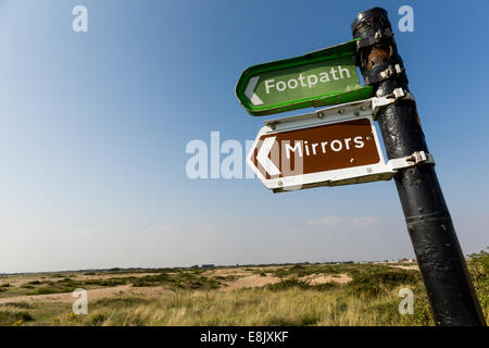 unusual sign post - Stock Image