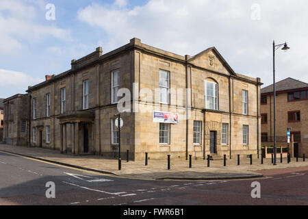 The historic building of Little Bolton town hall, built 1826, on St. George's Street, Bolton. - Stock Image