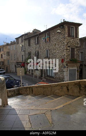 View from the Museum Steps in Antibes, Cote d'Azure, South of France - Stock Image