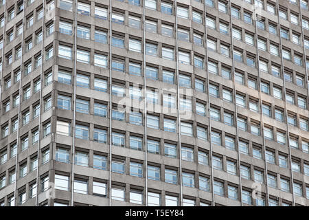 Exterior of an office skyscraper with concrete and glass in London for background use - Stock Image