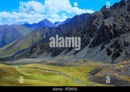 Altyn Arashan valley, Issyk Kul oblast, Kyrgyzstan - Stock Image