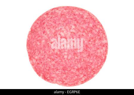 Picture of a single danish salami slice - Stock Image
