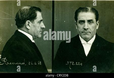 Pierre Louis Renard, Assassin,1908, by Alphonse Bertillon - Stock Image