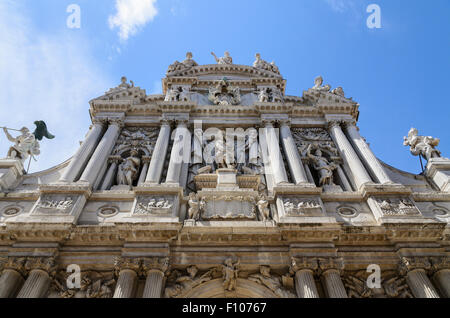 Chiesa di Santa Maria del Giglio is a baroque church in Venice, Italy, Europe. - Stock Image