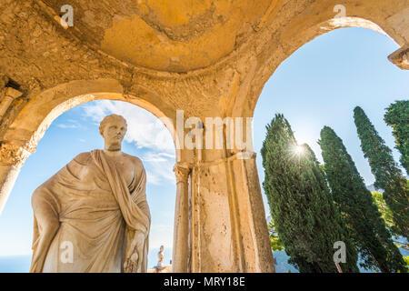 Villa Cimbrone, Ravello, Amalfi coast, Salerno, Campania, Italy. The temple of Ceres Goddess - Stock Image
