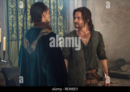 Alexander Siddig & Tom Riley Television: Da Vinci'S Demons : Season 3 (TV-Serie)  Character(s): Al-Rahim, Leonardo Da Vinci  Usa 2013-2015, / 3. Staffel, Season 3 24 October 2015  SAP60136 Allstar Picture Library/BBC WORLDWIDE  **Warning**  This Photograph is for editorial use only and is the copyright of BBC WORLDWIDE  and/or the Photographer assigned by the TV or Production Company & can only be reproduced by publications in conjunction with the promotion of the above TV Programme. A Mandatory Credit To BBC WORLDWIDE is required. The Photographer should also be credited when known. No commer - Stock Image