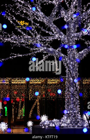 Yorkville, Toronto, Canada. 25th Dec, 2017. Christmas lights at Yorkville Village on Christmas Eve, December 24, - Stock Image