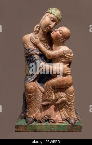 Virgin and Child, 12th century, Italian, unknown artist, Museum of Fine Arts, Boston, Mass, USA, North America - Stock Image