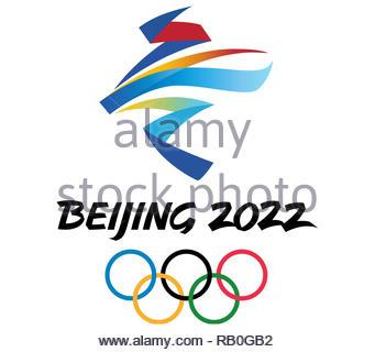 Beijing 2022 Olympic Games logo - Stock Image