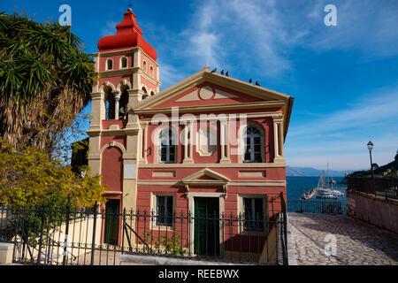 Greece Corfu Corfu Town Madrakinas Greek Orthodox Church by the Ionain Sea - Stock Image