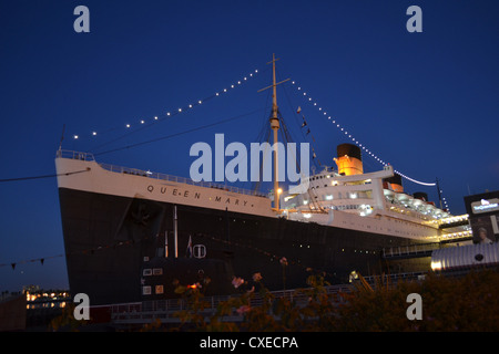 RMS Queen Mary at Long Beach, California - Stock Image