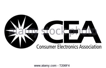 CEA Consumer Electronics Association icon logo - Stock Image